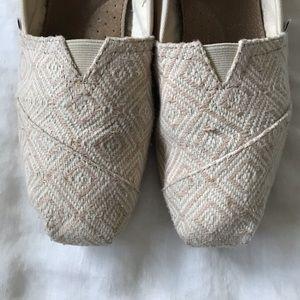 TOMS // Classic Canvas Flat Shoes Sz 10
